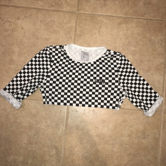 33498d1b04 Checkered Vans crop top. M 5b34482d3c9844e34ff184b8